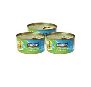 Nautilus Light Tuna Solid Vegetable 3x170g