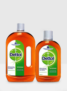 Dettol Disinfectant Antiseptic Liquid Twin Pack 1L+500ml