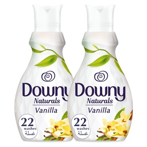 Downy Naturals Concentrate Fabric Softener Vanilla Scent 2x880ml