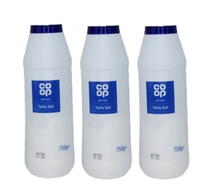 Co-Op Salt 3x750g