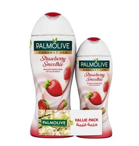 Palmolive Shower Gel Cream Gourmet Spa Strawberry 500ml+250ml