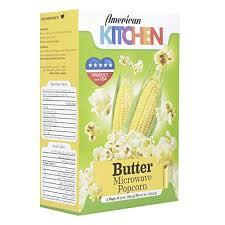 American Kitchen Microwaveable Popcorn Butter+Natural 2x85g