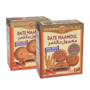 Alkaramah Date Mamoul Normal & Wheat 500g+500g
