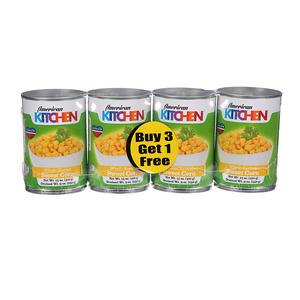 American Kitchen Whole Kernel Corn 4x15oz