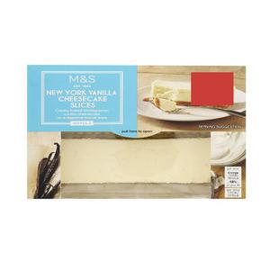 2 New York Vanilla Cheesecake Slices 250g