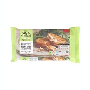 Made without Wheat Gluten Free Scottish Lochmuir Salmon Fillet Fishcakes 170g