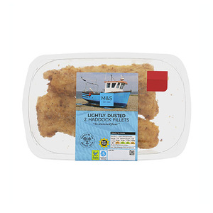 Lightly Dusted 2 Haddock Fillets 260g