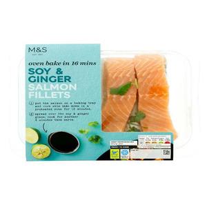 Soy & Ginger Salmon Fillets 300g