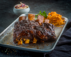 Pre-Cooked Beef Ribs Full Slab 1 - 1.1kg