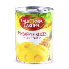 California Garden Pineapple Slices In Light Syrup 3x565g