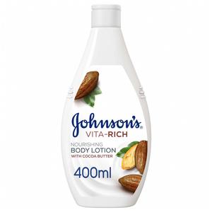 Johnson's Body Lotion Vita-Rich Nourishing Cocoa Butter 2x400ml