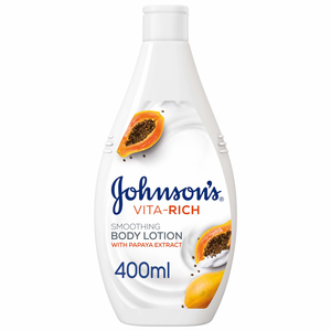 Johnson's Body Lotion Vita-Rich Smoothing Papaya 2x400ml