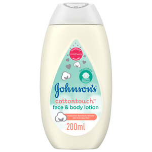 Johnson's Newborn Baby Face & Body Lotion Cotton Touch 2x400ml