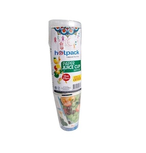 Hotpack Paper Juice Cup With Lid 25pc
