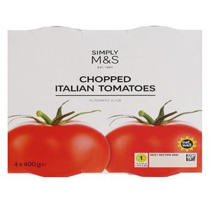 Chopped Italian Tomatoes 4x400g