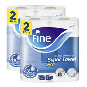 Fine Sterilized Kitchen Paper Towel Mega Roll 4x4ply