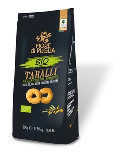 Taralli Classic Bio Wheat Crackers With Extra Virgin Olive Oil 300g