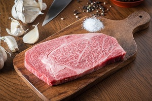 Japanese Beef Wagyu A5 Saroma Rib Eye Steak 500g pc