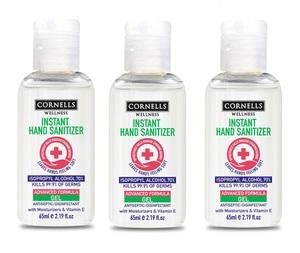 Cornells Hand Sanitizer Gel 3x65ml