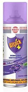 Attack Disinfectant Sanitizer Spray Lavender 400ml