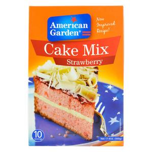 American Garden Cake Mix Strawberry 500g