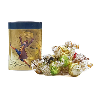 Assorted Gianduiotti Chocolates Small Tin Box 128g