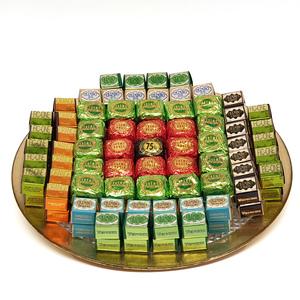 Assorted Chocolates Aluminium Round Tray 2.06kg