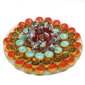 Assorted Chocolates Glass Round Tray 1.31kg