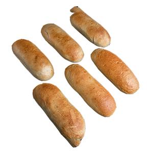 Ciabatta Soft Bread Plain 6pcs
