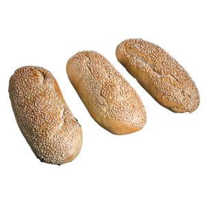 Ciabatta Soft Bread Sesame 3pcs