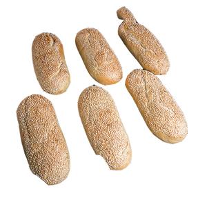 Ciabatta Soft Bread Sesame 6pcs