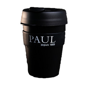 Paul Keep Cup Plastic Black 340ml