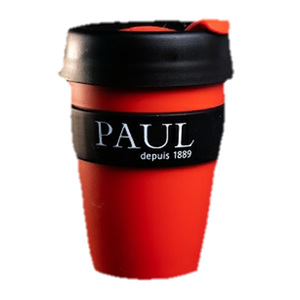 Paul Keep Cup Plastic Red 340ml