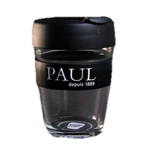 Paul Keep Cup Glass Black 340ml