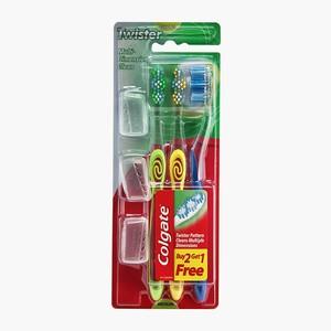 Colgate Twister Medium Toothbrush 3s