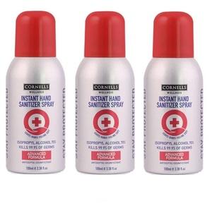 Cornells Hand Sanitizer Spray 3x100ml