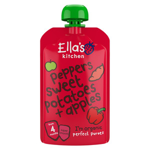 Ellas Red Pepper Sweet Potato And Apple 120g