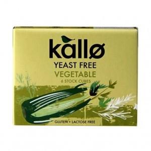 Kallo Yeast Free Vegetable Stock Cubes 6x10g