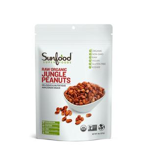 Sunfood Organic Raw Jungle Peanuts 227g