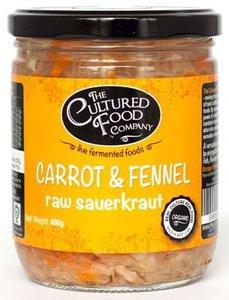 The Cultured Food Co Carrot Fennel Sauerkraut 400g