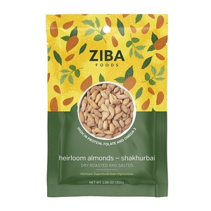 Ziba Dry Roasted & Salted Heirloom Almonds Shakhurbai 30g