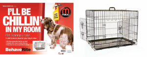 Mikki Dog Crate Two Doors With Plastic Tray M 1s