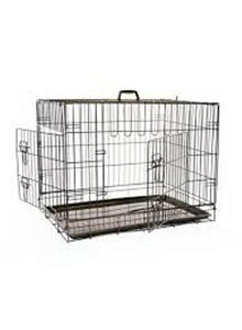 Mikki Dog Crate Two Doors With Plastic Tray L 1s