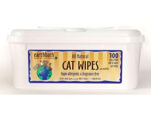 Earthbath Hypoallergenic Cat Wipes Fragrance Free 100s