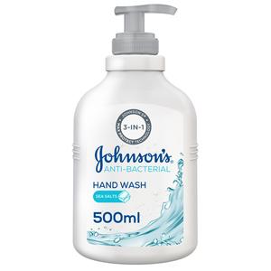 Johnson's Hand Wash Anti-Bacterial Sea Salts 500ml