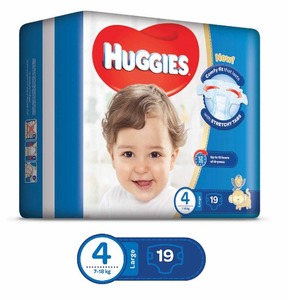 Huggies Ultra Comfort Baby Diapers Extra Large Size 4+ 7-18 kg 1pack