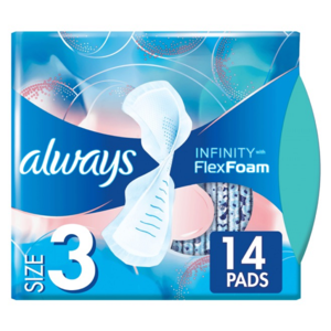 Always Zero Feel Day Revolutionary Technology Size 3 Sanitary Pads With Wings 14pcs