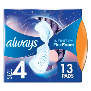 Always Zero Feel Night Revolutionary Technology Size 4 Sanitary Pads With Wings 13pcs
