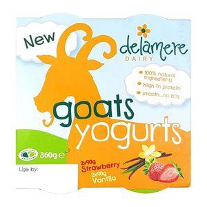 Delamere Dairy Yogurt Strawberry & Vanilla 4x90g