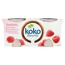 Koko Dairy Free Yoghurt - Raspberry 2x125g